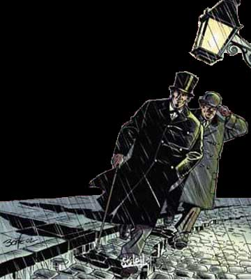 Sherlock Holmes - Le Vampire du West End (Soleil, 2002); art by Bonté